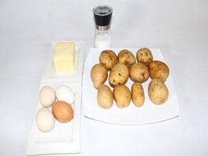 Картофель по герцогски, ингридиенты.