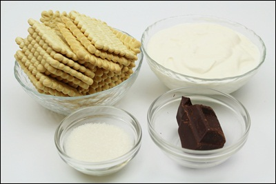Pastel De Galleta INGREDIENTES ?>